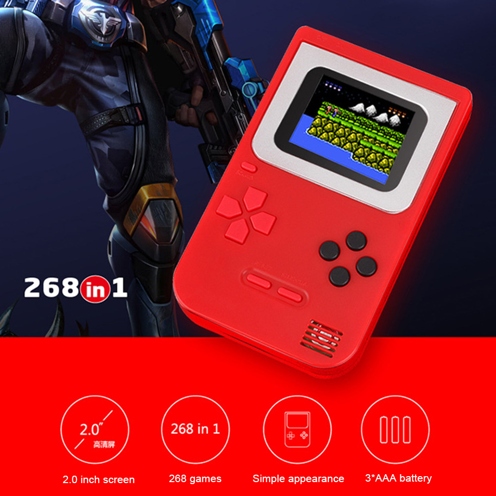 RS 6 A Retro Portable Mini Handheld Game Console 8 Bit 3 0 Inch Color LCD