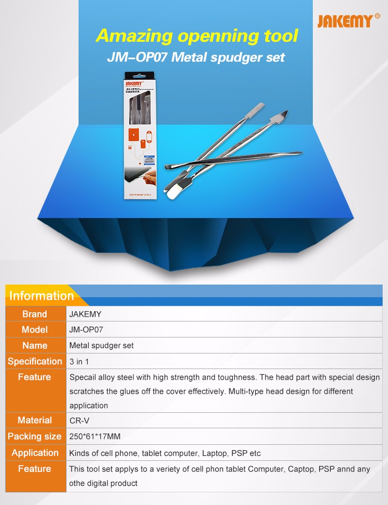 Us 376 Jakemy Metal Spudger Set For Iphone Ipad Ipod Laptop Aluminium Alloy Carving Knife Jm Z05 Aeproduct