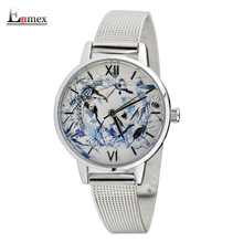 2016 lady gift Enmex  abstract patterns Nordic design  elegant with simple unique design for young women fashion quartz watches