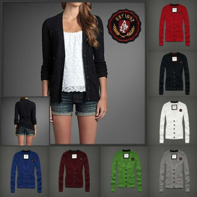Wholesale Autumn and winter fashion knit cardigan sweater jacket 8 colors