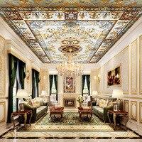 Groothandel 3d plafond muurschildering behang koninklijke plafond muurschildering voor woonkamer Europese stijl muurschilderingen 3d foto muurschilderingen home decor
