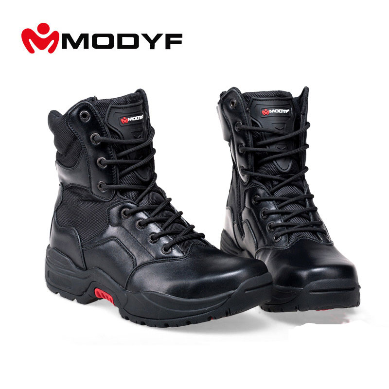 Free shippingsteel toe cap work safety shoes Puncture proof Military boots Compression wear resisting Martin boots