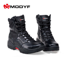 Free shippingsteel toe cap work safety shoes Puncture proof Military boots Compression wear-resisting Martin boots Fashion shoes