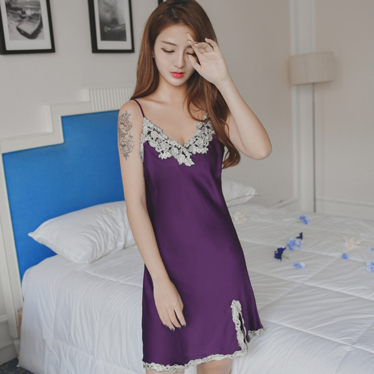 Online Get Cheap Satin Nightgown Plus Size -Aliexpress.com ...
