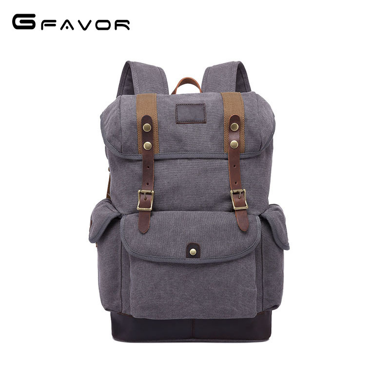 Fashion Men's Backpack Vintage Canvas Backpack School Bag 2018 New Men's Casual Laptop Bags Large Capacity Travel Backpack Bag men s casual bags vintage canvas school backpack male designer military shoulder travel bag large capacity laptop backpack h002
