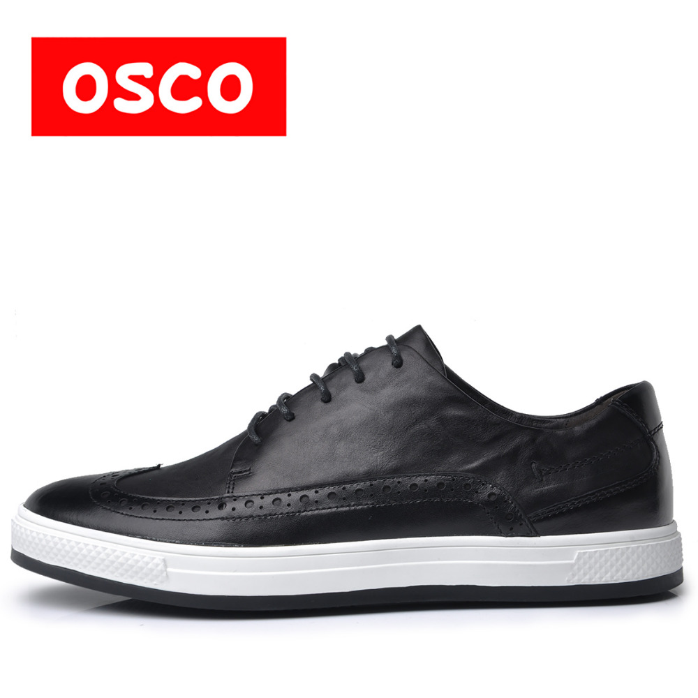 OSCO ALL SEASON New Men Shoes Fashion Men Casual leather men Shoes font b Oxfords b