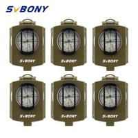 6 pcs SVBONY Compass Pocket Style Survival Military Outdoor Metal Compass for Hiking Travel Hunting Camping Equipment F9136