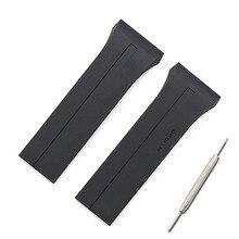 Rubber strap herren uhr zubehör outdoor sport wasserdichte uhr mit frauen armband für porsche design P6750 uhr band
