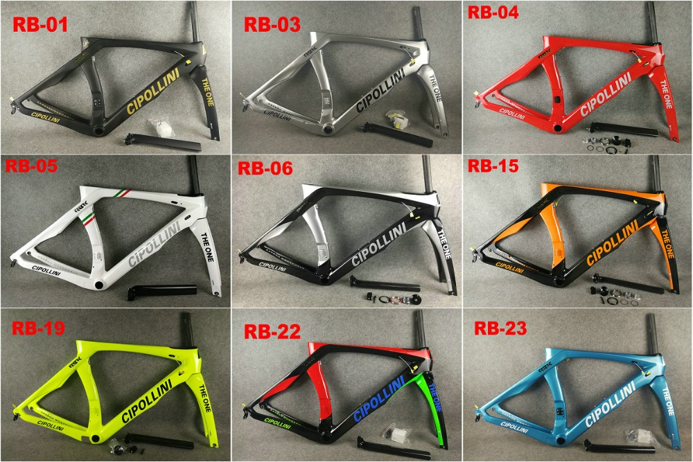 2018 Carbon Road Frame Cipollini RB1K THE ONE Shiny RB1000 T1100 carbon fiber road bike bicycle frame set(China)