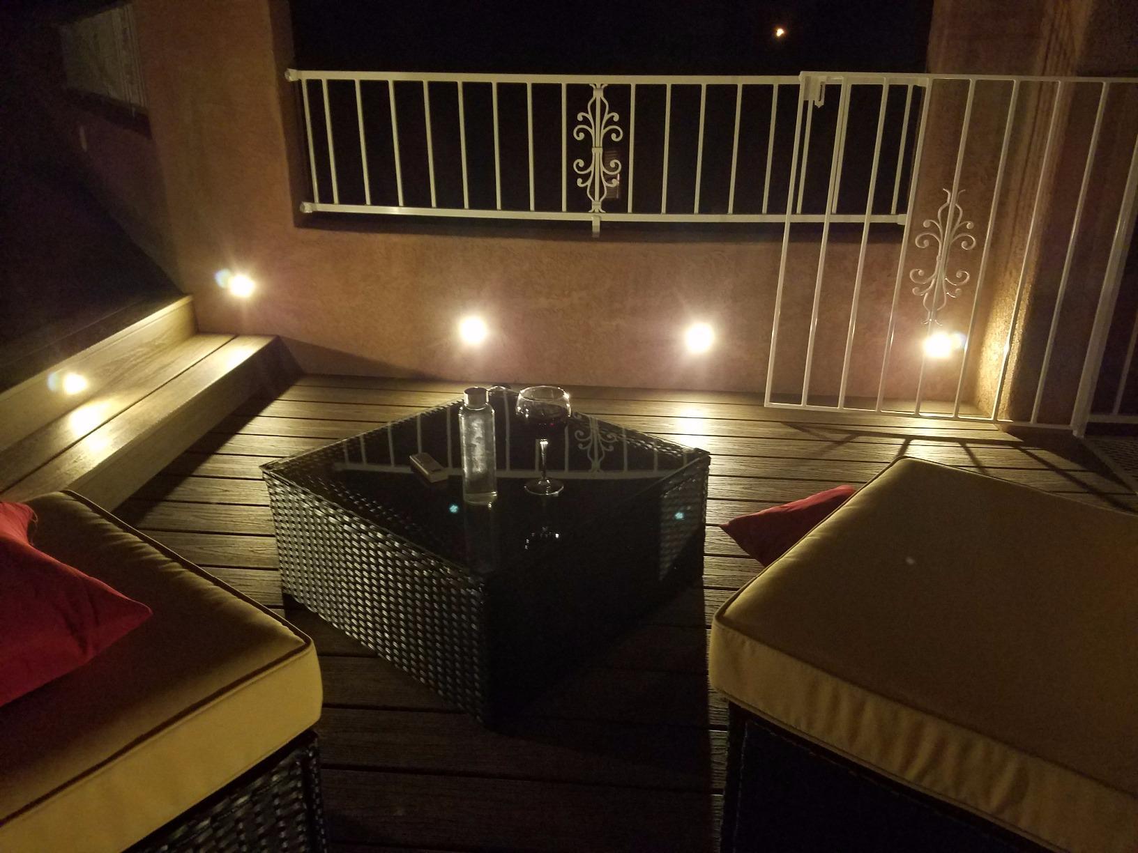 31mm-61mm WIFI Bluetooth RGB WW LED Terrassendach Garten Terrasse Treppen Lampe