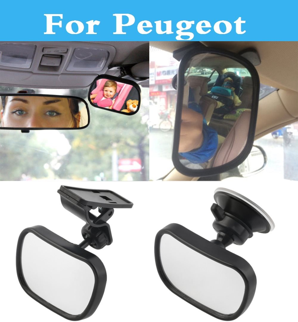 3in1 Car styling Seat Rearview <font><b>Mirror</b></font> Reverse Clip and Sucker For <font><b>Peugeot</b></font> 308 GTi 4007 4008 407 <font><b>408</b></font> 508 607 iOn RCZ image