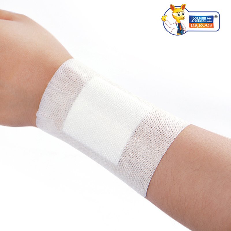 DR.ROOS 10x15cm 1Pcs/Bag (10Bags) Self Adhesive Wound Dressing Fabric Wound Dressing