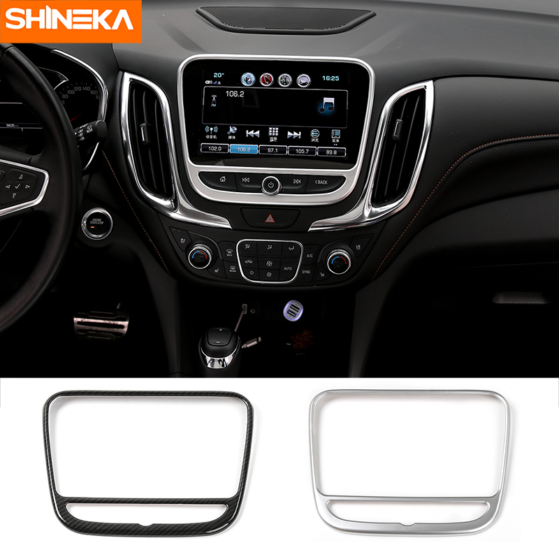 2018 Chevy Equinox Interior Color Options: SHINEKA ABS Car GPS Navigation Plate Panel Dashboard Cover