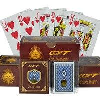 Техасский Холдем 100% пластик ПВХ Игральные карты Игры покер карты водонепроницаемый и тупой лак GYT Настольные Игры покер