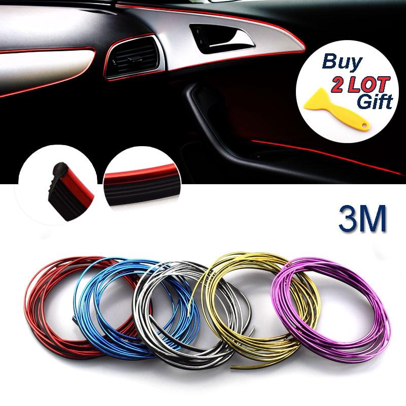 3M Auto DIY Car-Styling Decoration Sticker Dashboard Case For Mazda Hyundai Honda Nissan Nismo Seat Kia Mercedes VW Car Styling