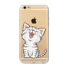 Cute cat design cases for iPhone 6 6S 6Plus 6s Plus 4 4S 5 5S SE