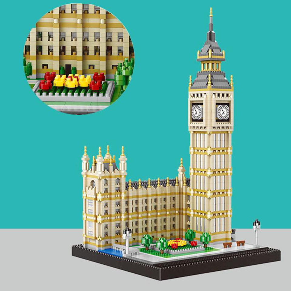 City Big Ben Brick  Buildings Model Building Blocks for Kids Mini Diamond Blocks Toys for Children Building Toys