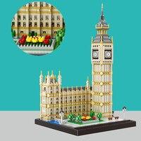 City Big Ben Brick Nanoblocks Buildings Model Building Blocks for Kids Mini Diamond Blocks Toys for Children Building Toys