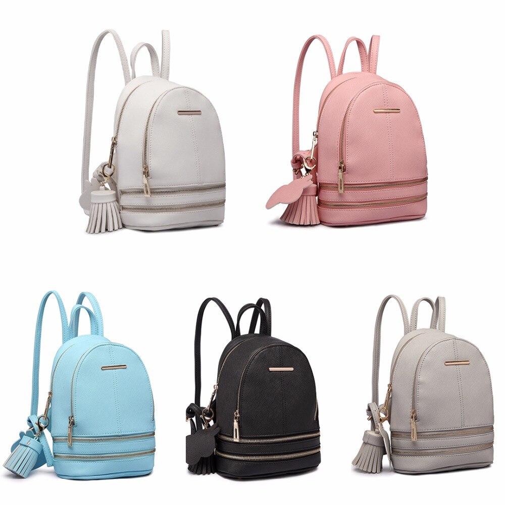 Miss Lulu Women Designer Luxury Fashion Backpacks Girls PU Leather Mini  School Bags Ladies Small Fashion Rucksack Daypack LT1705-in Backpacks from  Luggage ... 05dcd4779999