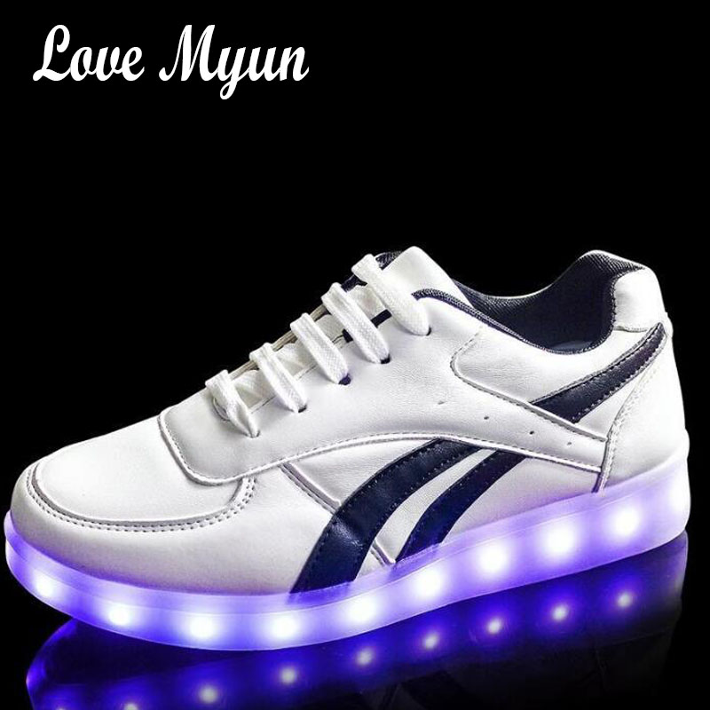 fashion  Men simulation sole charge adults neon basket Male light up led luminous shoes color glowing Casual sneakers  II-31