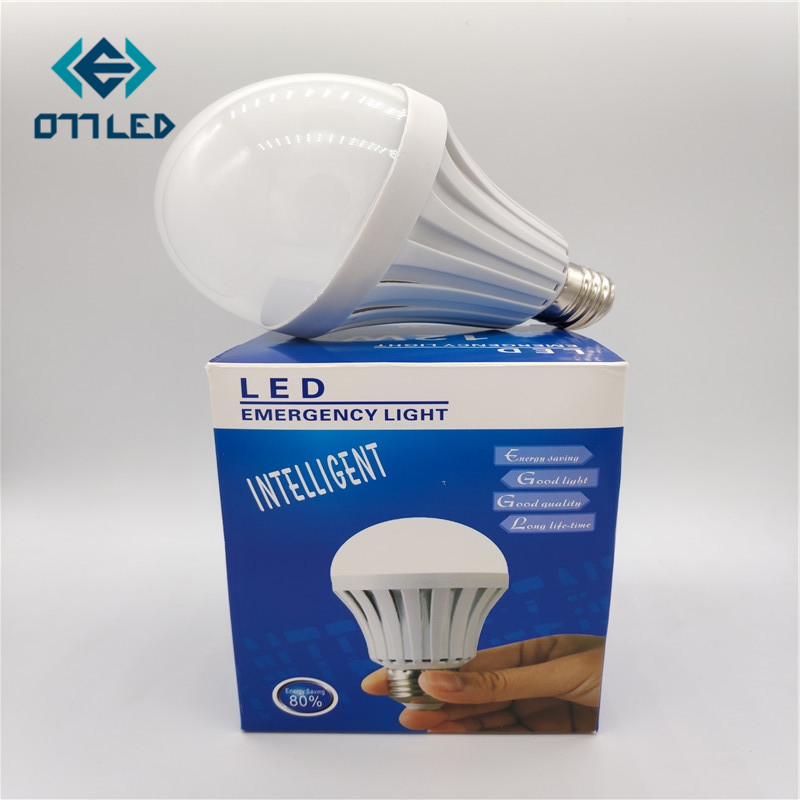 LED Emergency Light Bulb AC85-265V E27 5W 7W 9W 12W 15W Rechargeable Battery Lighting Lamp Intelligent Magical Bombillas Outdoor flaming fire e27 led corn bulb warm white 3 5w smd3528 99leds ac85 265v 300lm bombillas led for frosted lampshade lighting