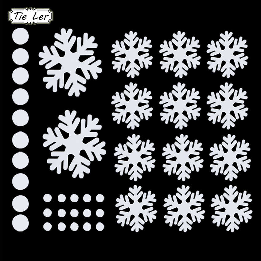 39PCS New Year Window Glass PVC Wall Sticker Christmas DIY Snowflake Window Stickers Home Decal Christmas Decoration