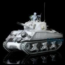 Зимние цвета снега 2,4 Ghz HengLong 1/16 масштаб M4A3 Шерман РТР р/у Танк модернизированная металлическая Версия треков звездочки направляющие колеса 3898