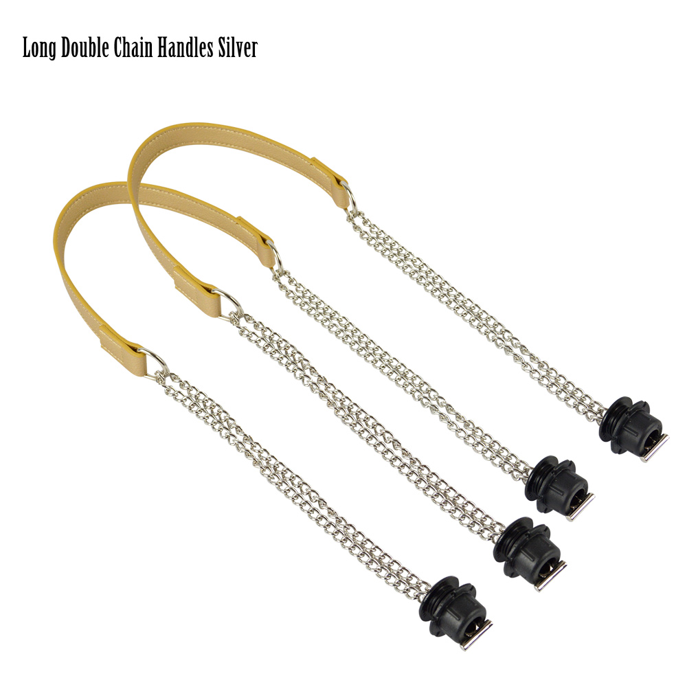 2019 New 1 Pair Obag Silver Long  Double Chain OT T OBag Handles For Obag EVA O Bag Totes Women Bag Shoulder HandBag