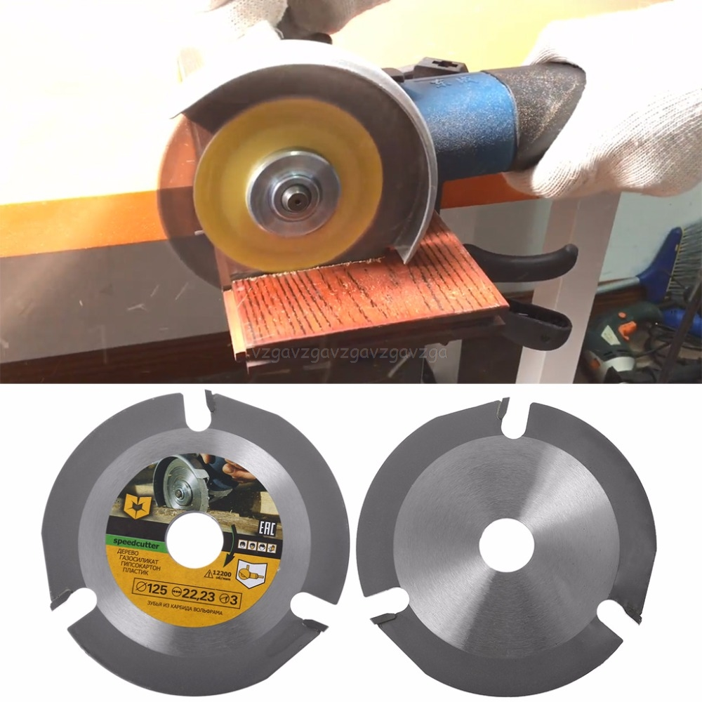 125mm 3T Circular Saw Blade Multitool Wood Carving Cutting Disc Grinder Carbide Power Tool Attachments J03 19 Dropship