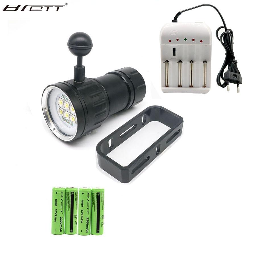 LED Diving Flashlight Underwater 80M Highlight 18000LM 6 XHP70 XHP90 Lanterna LED Photography Video Tactical Flashlight