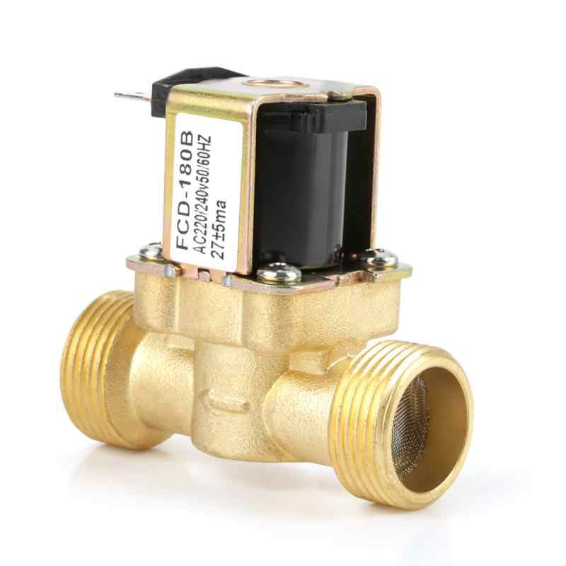Ac 220240v Fcd 180b 2 Way Water Inlet Nc Normal Electric Solenoid Valve G34 Aliexpress