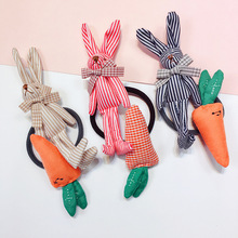Korean Rabbit Dolls Hair Accessories For Girls Handmade Tie Dimensional  Cartoon Elastic Band Gum