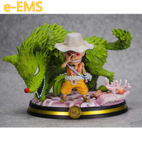 Anime ONE PIECE GK Usopp Unique Skill Green Star Impact Wolf Grass Scenes Resin Statue Action Figure Collection Model Toy G2573