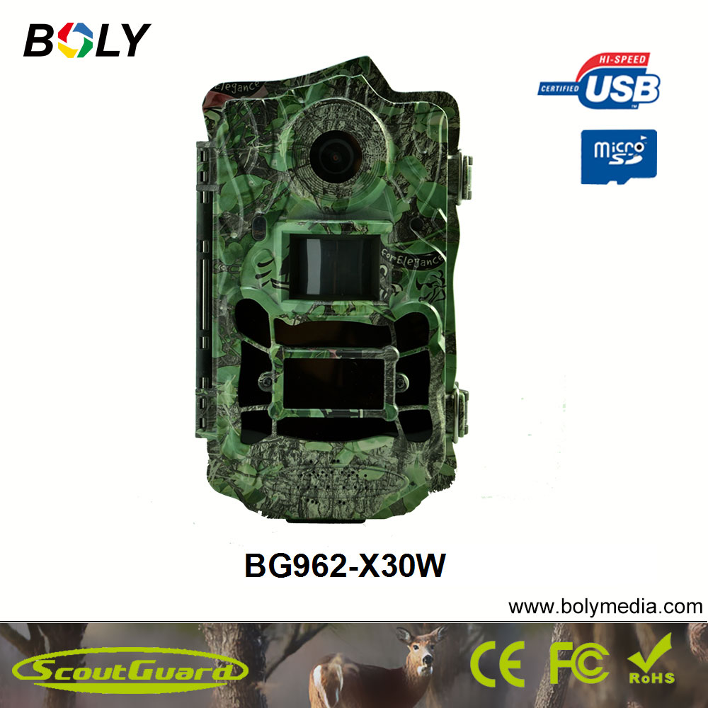 Bolyguard 30MP 1080P HD Trail Camera Wide Angle 120 degree Hunting Camera IR-CUT Night Vision with 940nm low glow IR LED lights цена и фото