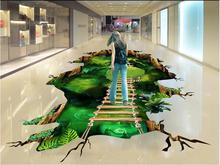 3 d pvc flooring custom photo mural waterproof floor Magic dream forest path room decoration painting wallpaper for walls 3d