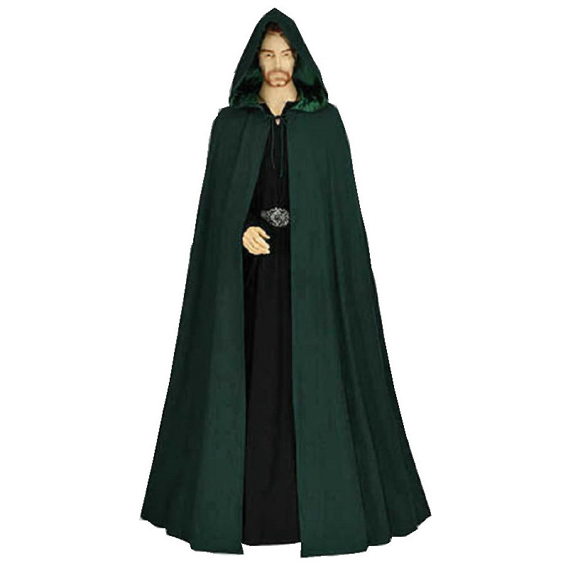 Custom order R 915 Vintage Costumes MEN Gothic Hooded Cloak Gothic Wicca Robe Medieval Larp Cape