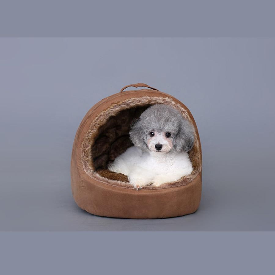 Haustier Katze Jurte Zelt Hund Haus Warm Kleinen Bett Schlafsack  Hondenmanden Welpen Zwinger Casa De Perro Suave Haustier Höhle .
