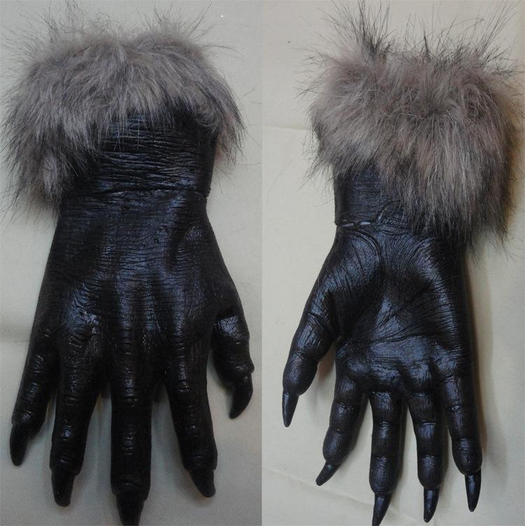 disponible de cosplay de halloween hombre lobo guantes de ltex de halloween gran