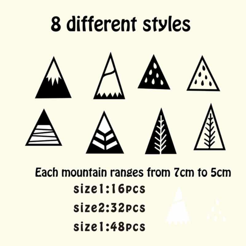 Nordischen Stil Berge Wandaufkleber Fur Kinderzimmer Nordischen Stil