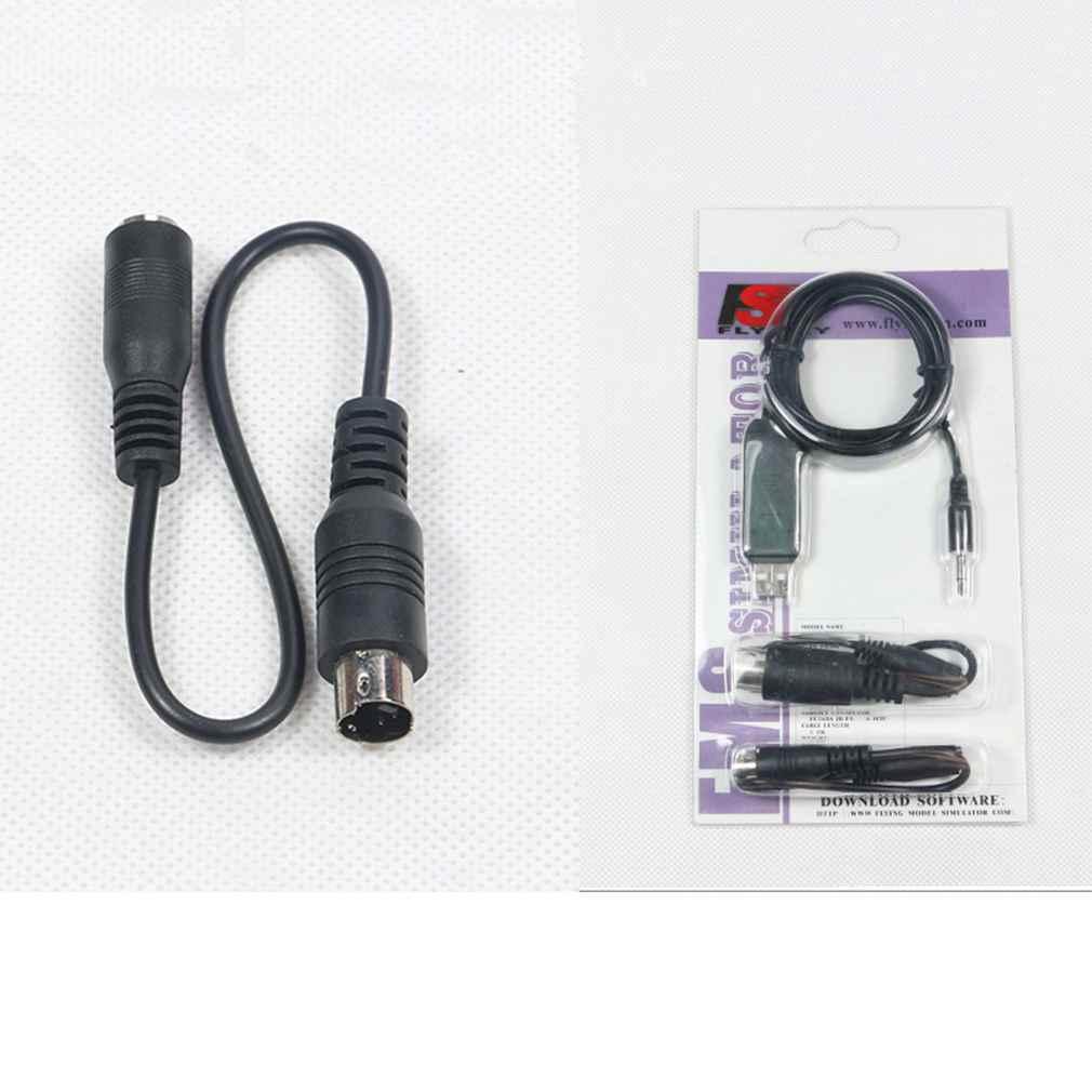 Black 1pc 2.4G Aeromodelling USB Remote Control Analog Cable For RC Flysky SM100 pinnacle pctv analog pro usb
