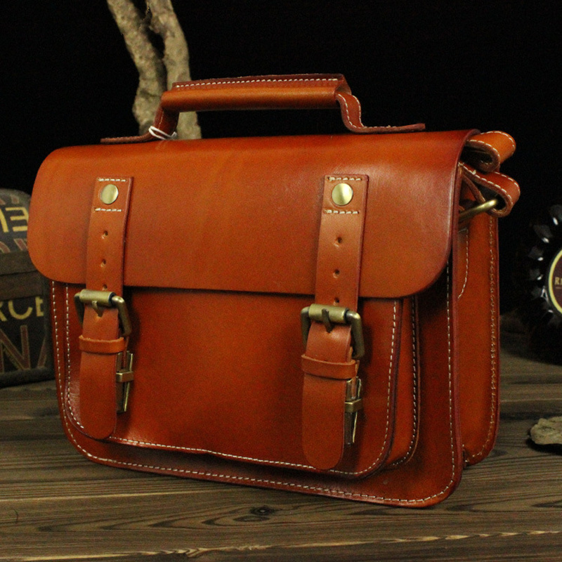 Genuine Cowhide Leather men Women's Shoulder Sling Bag Casual Small Mini Handbag Briefcase Portfolio Tote For Lady LD043 genuine leather bag cowhide shoulder men
