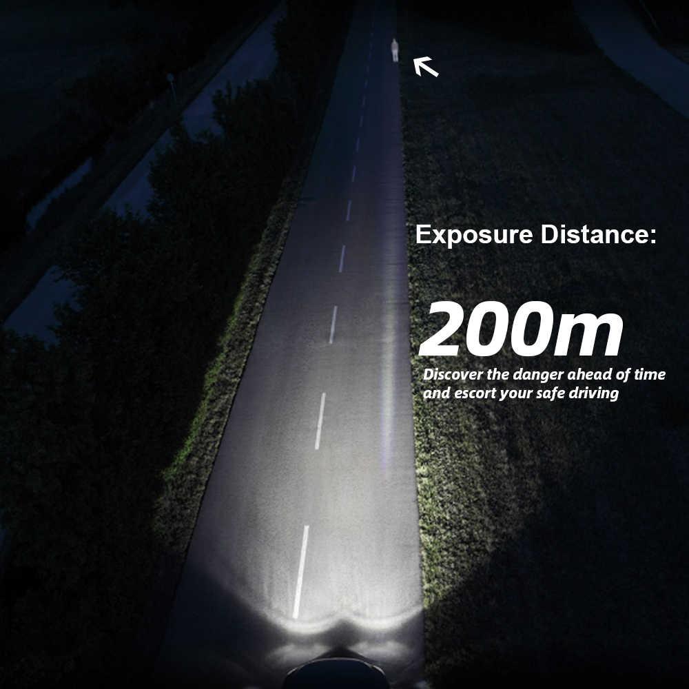 Roadsun автомобильные лампочки Светодиодный H4 H7 H1 9005 9006 H11 35 W 8000LM Автомобильные фары лампы 6000 K 12 V 24 V фары противотуманная фара COB лампа
