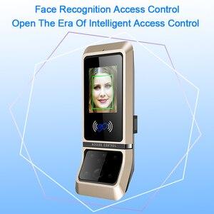 Image 5 - 顔のアクセス制御システム顔認識ドアロックバイオメトリックシステム USB タイムレコーダーレコーダーオフィス従業員機器