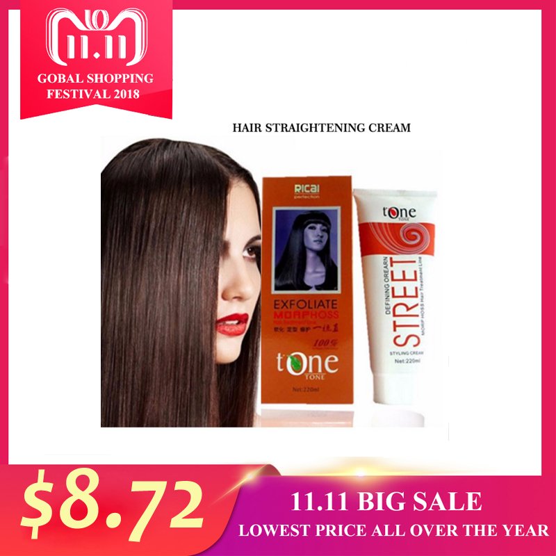 Permanent Hair Straightening Cream Brazilian Keratin Treatment Professional Hair Relaxer Cream Natural Hair Moisturizer Blow Dry