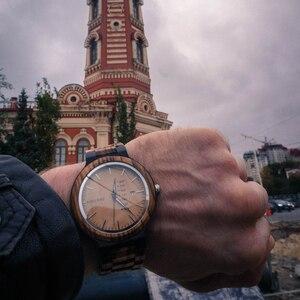 Image 2 - Relogio masculino בובו ציפור עץ שעון גברים erkek kol saati תצוגת שבוע תאריך יפן קוורץ גברים שעונים מקבלים לוגו Drop חינם