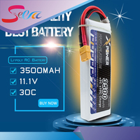 3pcs Lipo 11 1V 3S 30C Max 35C 3500mah EC5 XT60 T Plug Xpower Battery For