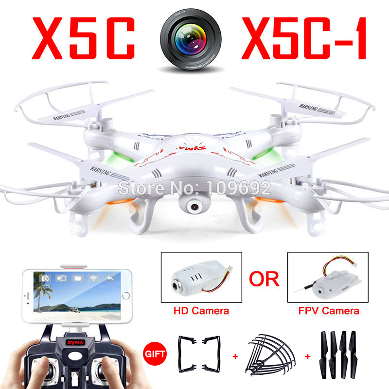 100% Original Syma X5C-1 (Upgrade Version Syma X5C) Drone Can Add WIFI FPV HD 2MP Camera RC Quadcopter Helicopter Toy VS H31 H22 syma x5c 1 2mp hd fpv camera 2 4ghz 4ch 6 axis rc quadcopter