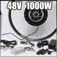 E Bike 48V 1000W Motor With Disc Brakes Hub Electric Bicycle Ebike Conversion Kit Front Or