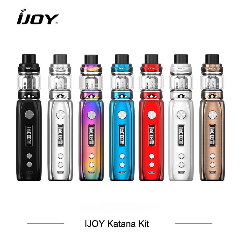 Originale limitée-édition e-cigarette IJOY KATANA KIT 3000 mah Batterie 81 w Boîte Mod Vaporisateur 5.5 ml KATANA Subohm réservoir 6 Mode Vaporisateur
