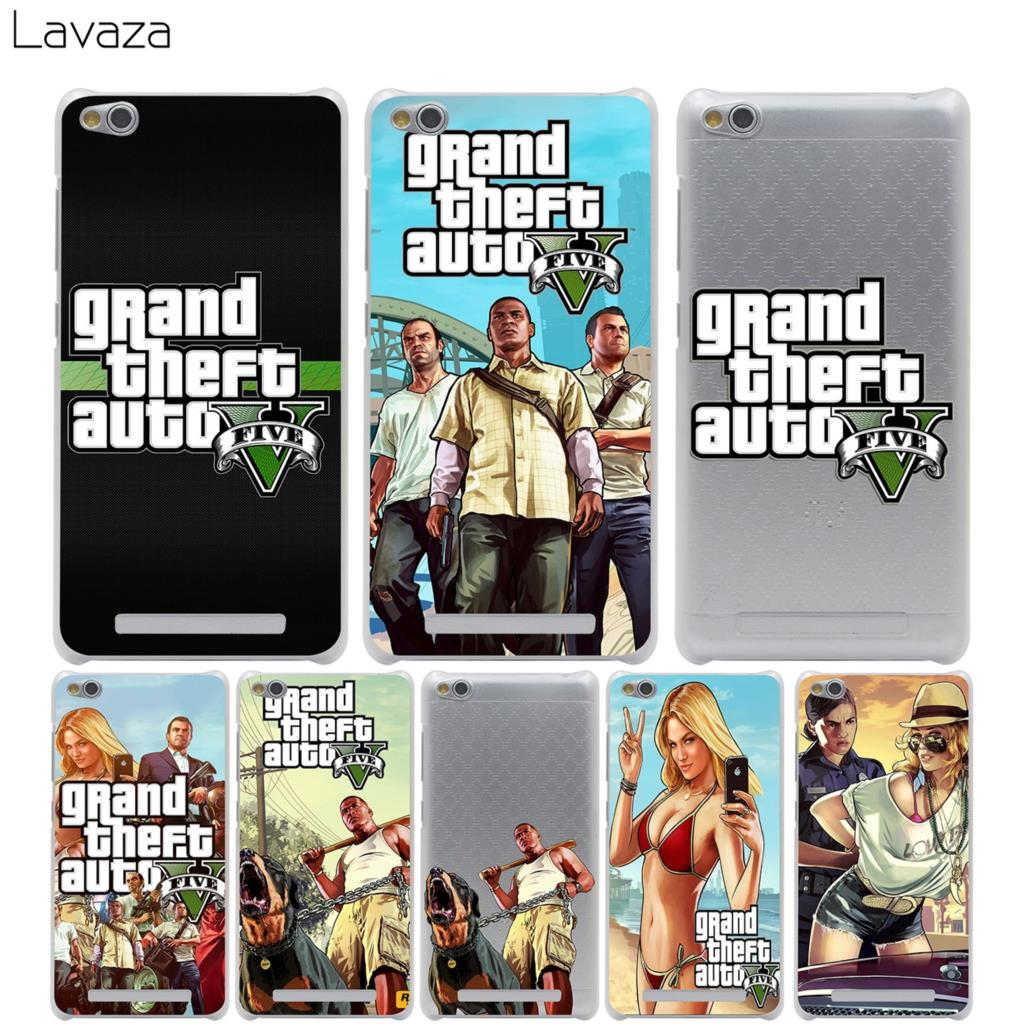 Lavaza Grand Theft Auto GTA V Cover Case for Xiaomi Redmi Note Mi 3 3S 4X 4 4A A1 5 5A 5S 5X MI5 MI6 Pro Plus ...